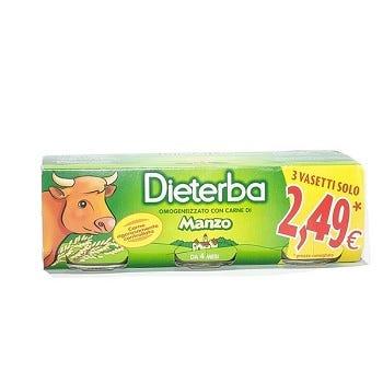 Image of Dieterba Omogenizzato Manzo 3 Vasetti da 80 g