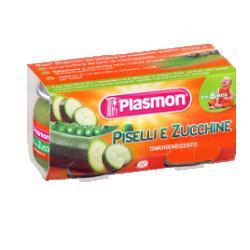 Image of Plasmon Omogenizzati Piselli e Zucchine 2 Vasetti da 80 g
