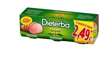 Image of Dieterba Omogenizzato Prosciutto 3 Vasetti da 80 g