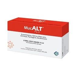Image of Mucalt Flu Integratore Raffreddore 8 Stick Monodose 15 ml