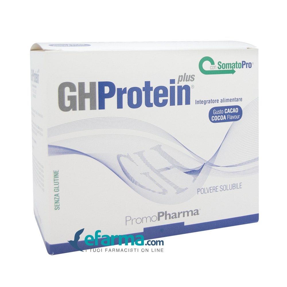 Image of Gh Protein Plus Integratore Integratore Gusto Cacao 20 Bustine