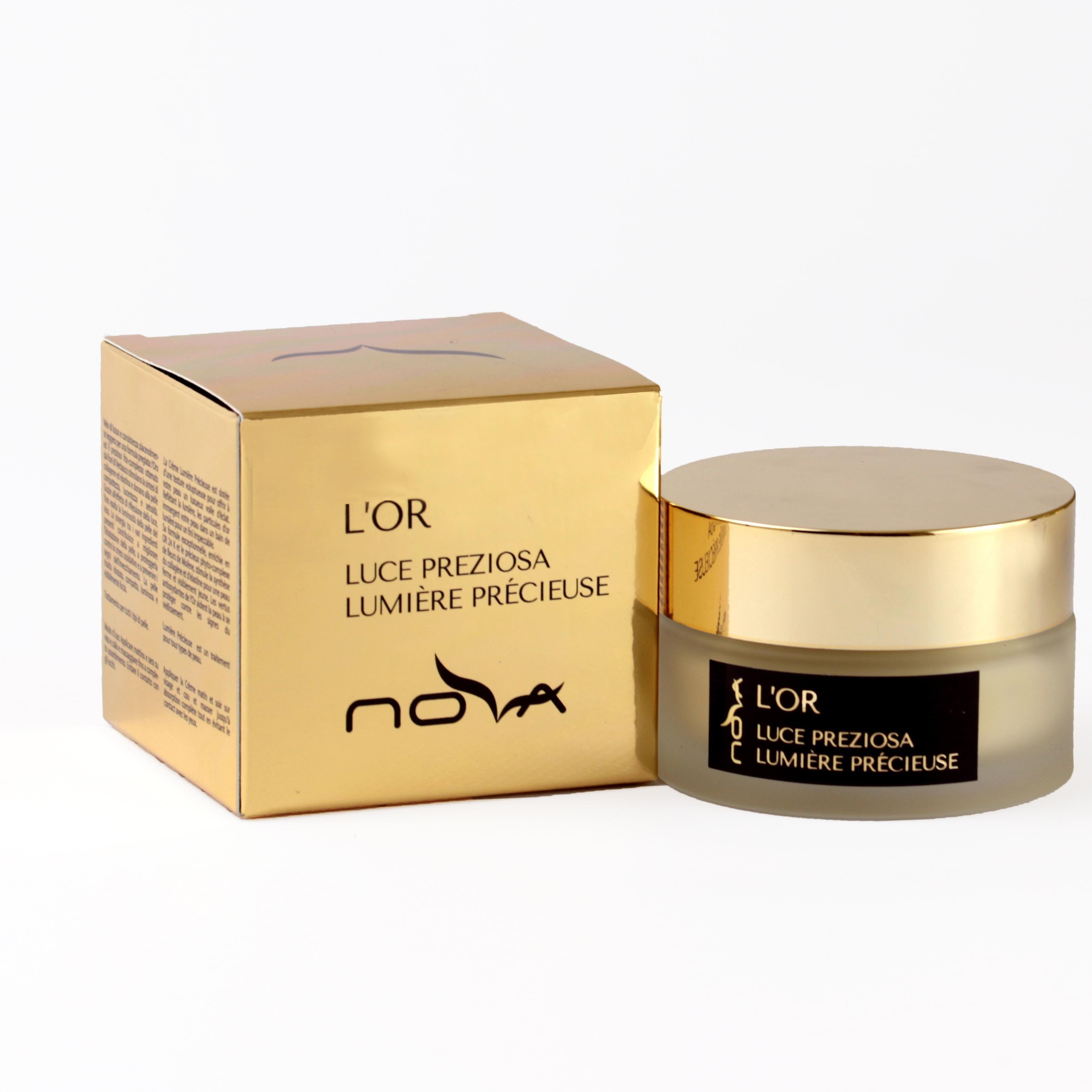 Novakosmetica - Crema Viso Preziosa Illuminante L'Or